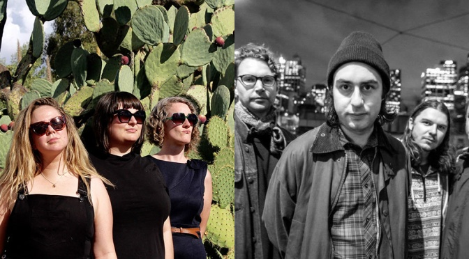 Video Premiere: MOODY BEACHES / BENCH PRESS – 'GUNS' / 'BABY STEPS'